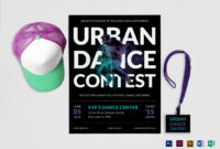 Urban Dance Contest Flyer Template inside Dance Flyer Template Word