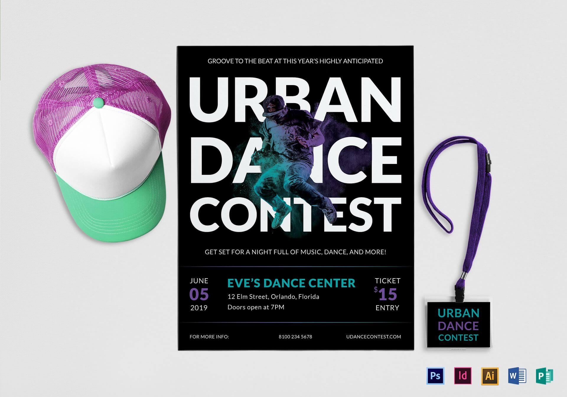 Urban Dance Contest Flyer Template Inside Dance Flyer Template Word