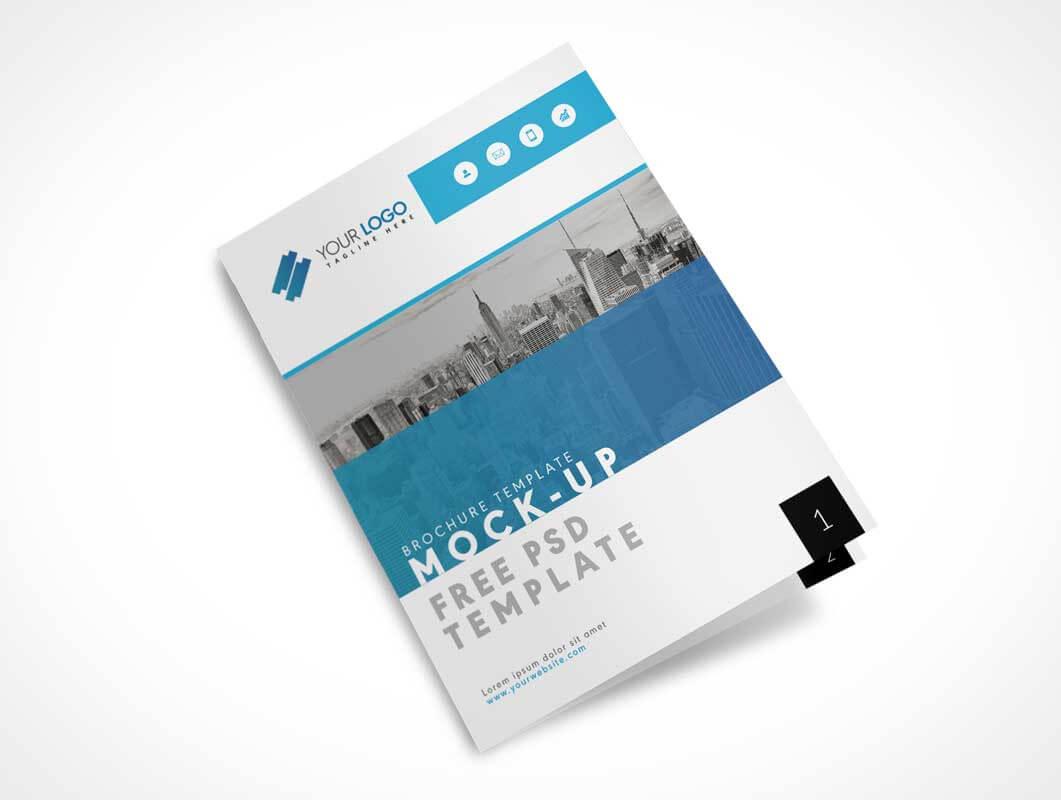 Us Letter Size Bi Fold Brochure Cover Psd Mockup - Psd Mockups Regarding Letter Size Brochure Template
