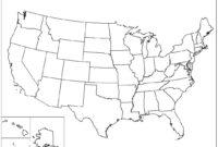 Us Map Printable Pdf Blank Us State Map Printable Printable inside United States Map Template Blank