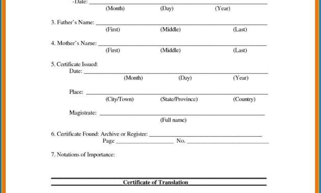 Uscis Birth Certificate Translation Template #10036 with regard to Uscis Birth Certificate Translation Template