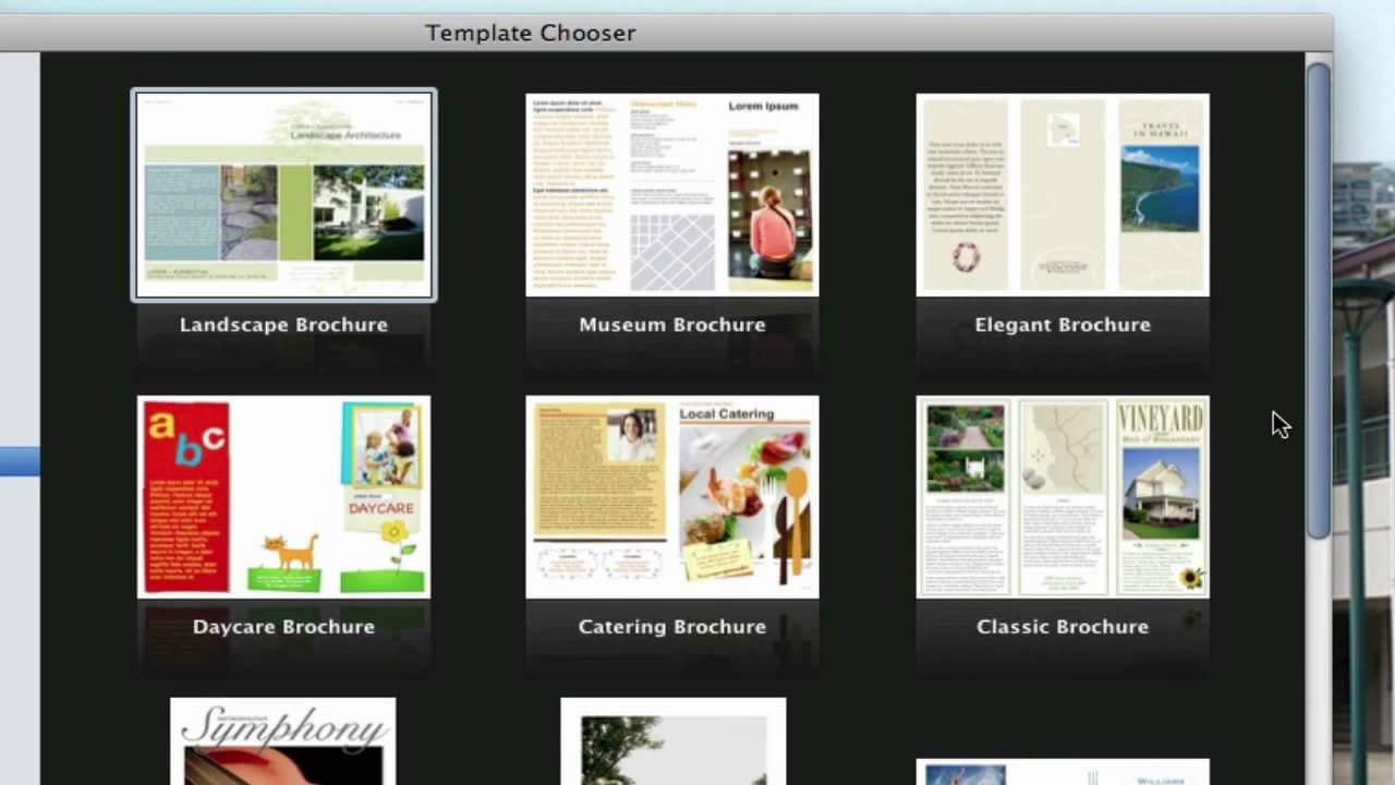 Use Pages On Macs To Create A Pamphlet (View Description) For Mac Brochure Templates