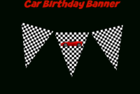 Use This Free Printable Race Car Birthday Banner And in Cars Birthday Banner Template