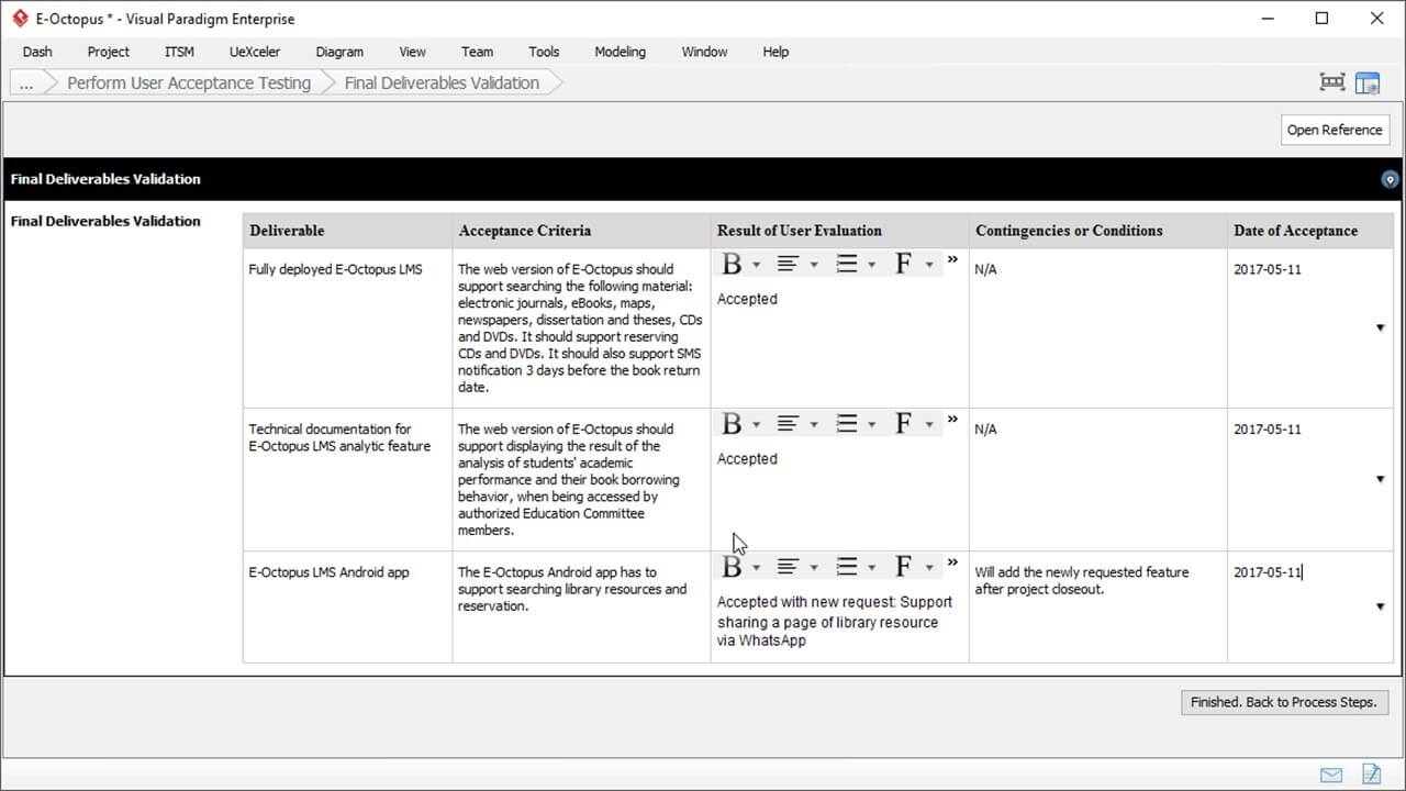 User Acceptance Report Template - Project Management In User Acceptance Testing Feedback Report Template
