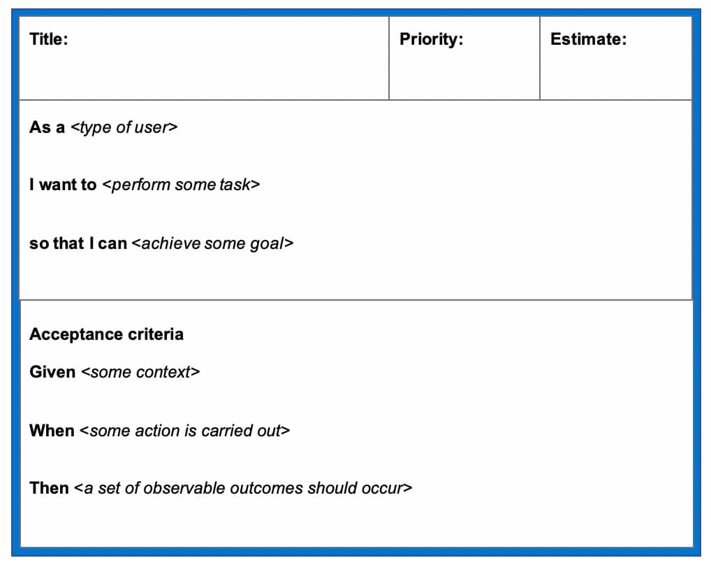 User Story Template Examples For Product Managers   Aha! with User Story Template Word