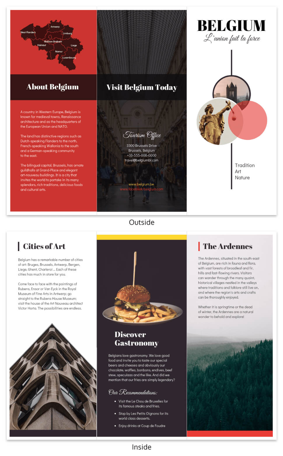 Vacation Travel Brochure Template Template - Venngage Throughout Country Brochure Template