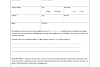 Vaccination Certificate Format – Fill Online, Printable for Dog Vaccination Certificate Template