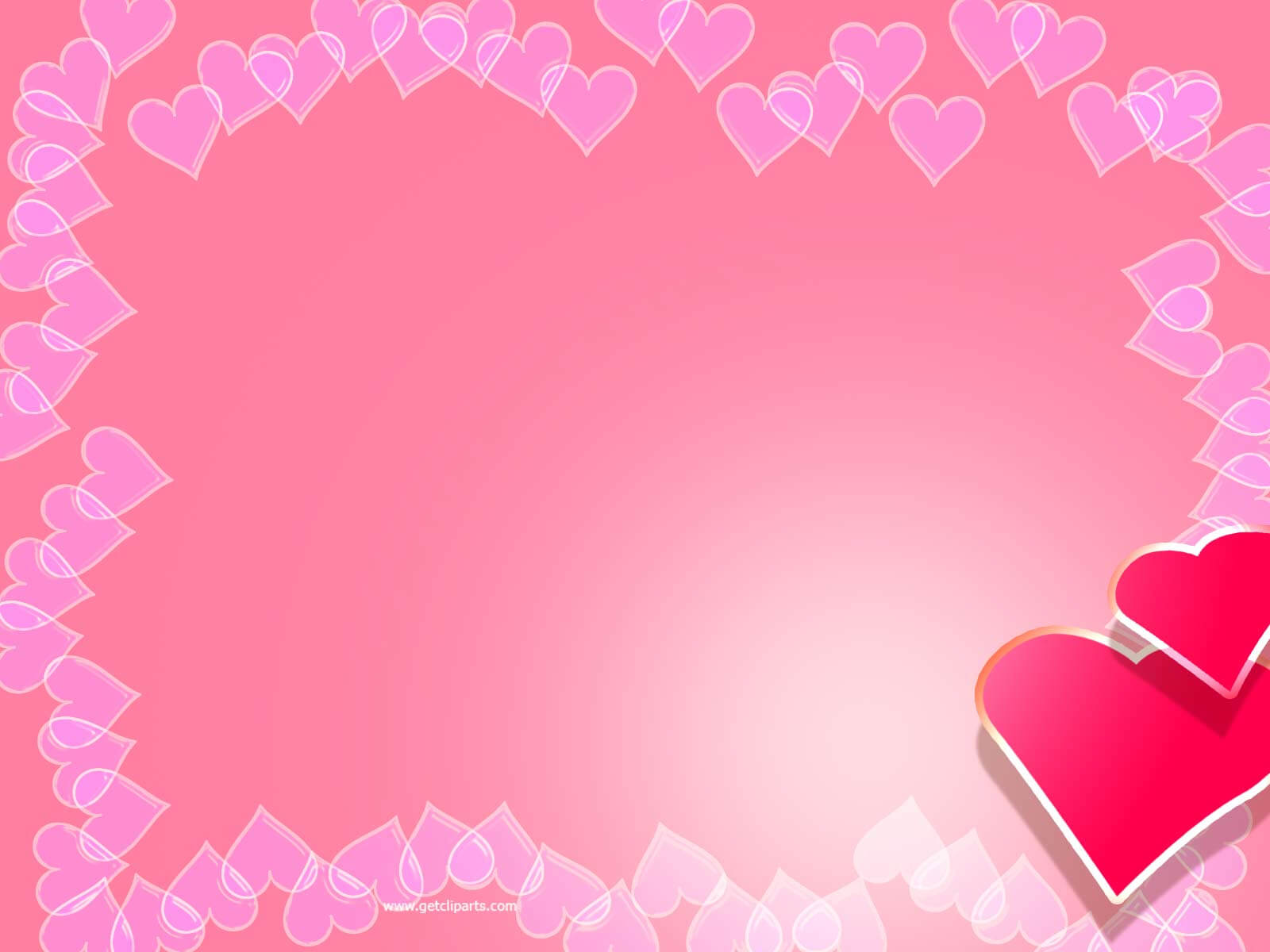 Valentine Backgrounds For Powerpoint - Border And Frame Ppt intended for Valentine Powerpoint Templates Free
