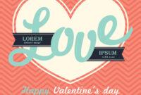 Valentines Day Invitation Card Template Love Word for Valentine Card Template Word