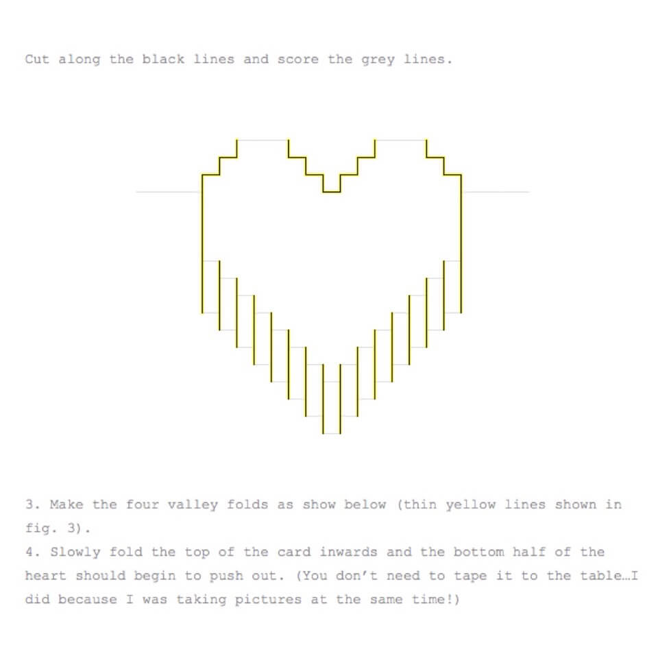 Valentines Day Pixelated Popup Cardlindsey Holmes – Musely Throughout Pixel Heart Pop Up Card Template