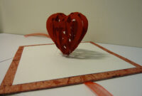Valentine's Day Pop Up Card: 3D Heart Tutorial – Creative with 3D Heart Pop Up Card Template Pdf