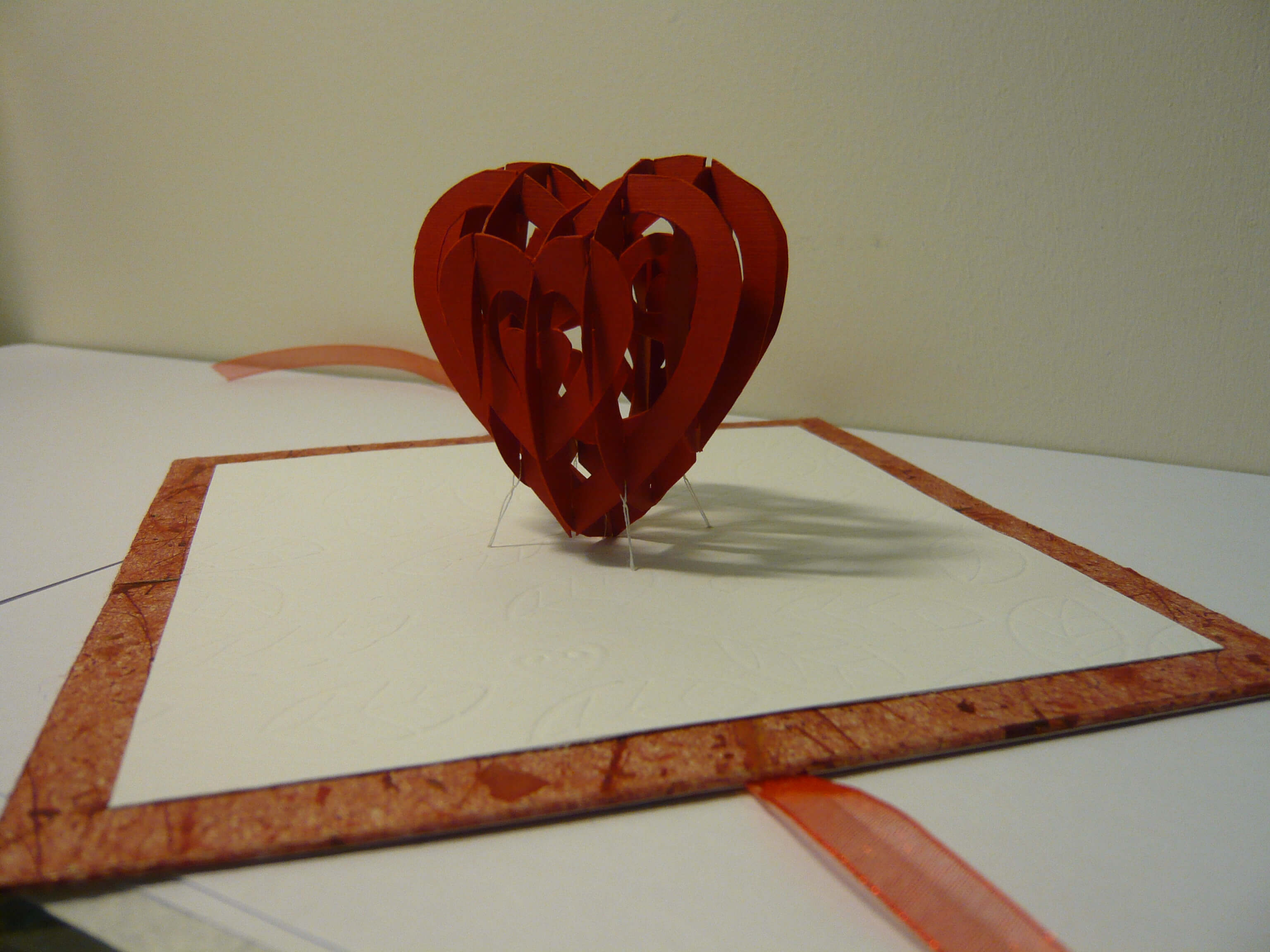 Valentine's Day Pop Up Card: 3D Heart Tutorial - Creative With 3D Heart Pop Up Card Template Pdf