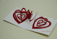 Valentine's Day Pop Up Card: Spiral Heart Tutorial regarding 3D Heart Pop Up Card Template Pdf