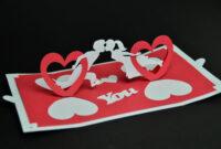 Valentine's Day Pop Up Card: Twisting Heart – Creative Pop regarding Twisting Hearts Pop Up Card Template