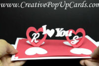 Valentines Day Pop Up Card: Twisting Hearts throughout Twisting Hearts Pop Up Card Template