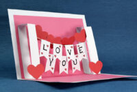 Valentine's Day Pop-Up Templates – Do It Yourself Pop-Up pertaining to I Love You Pop Up Card Template