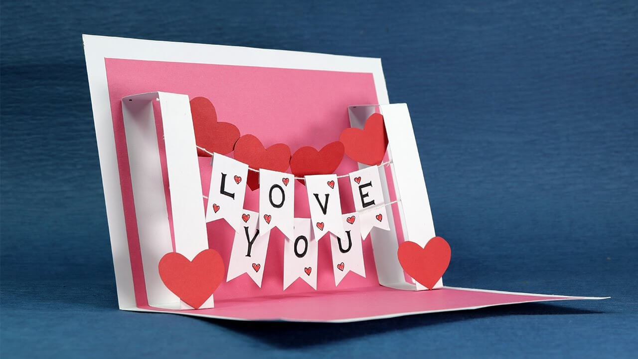 Valentine's Day Pop Up Templates - Do It Yourself Pop Up Pertaining To I Love You Pop Up Card Template