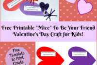 Valentine's Day Printable Card Crafts For Kids To Create for Valentine Card Template For Kids
