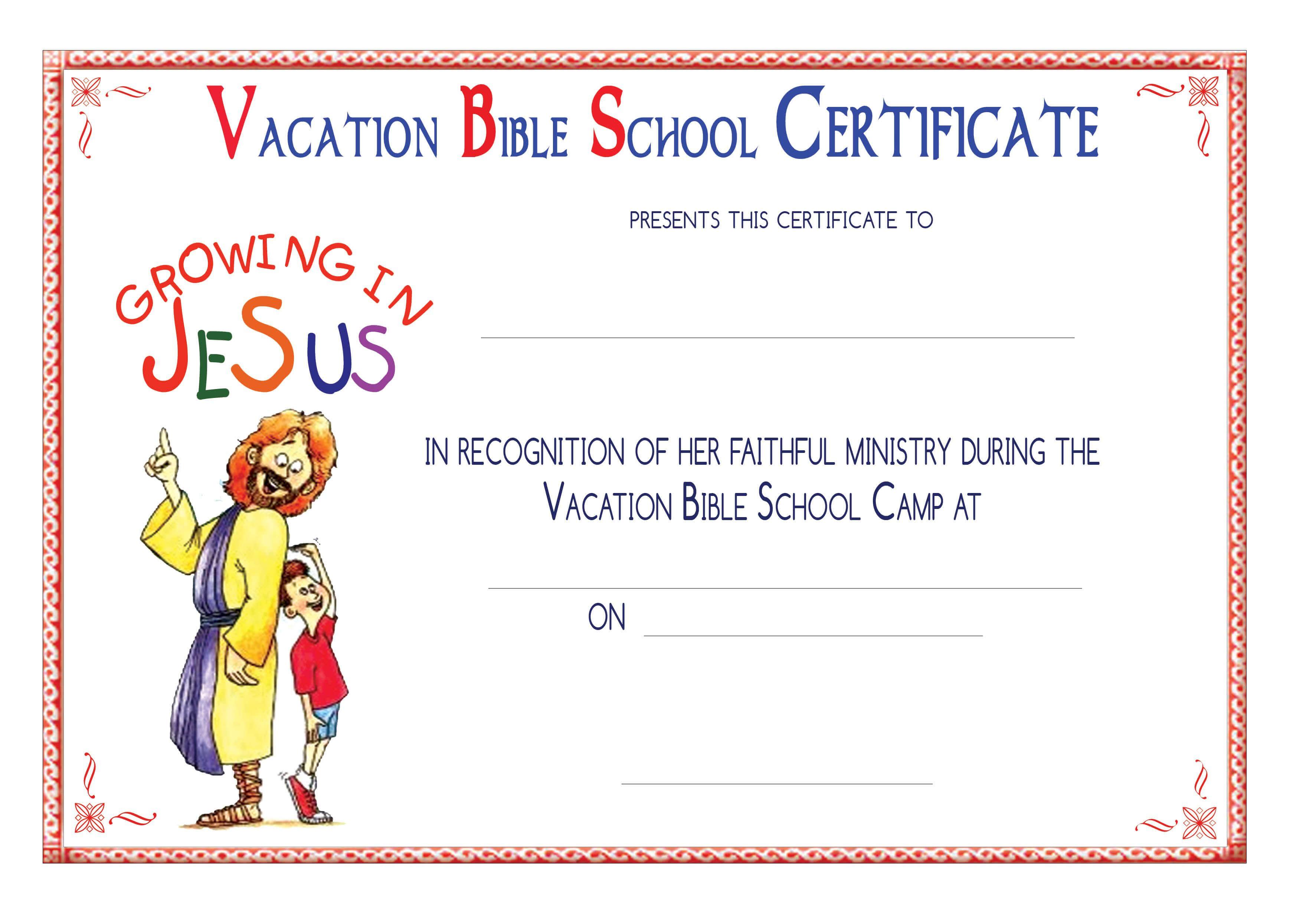 Vbs Certificate Templatesencephalos   Encephalos intended for Christian Certificate Template
