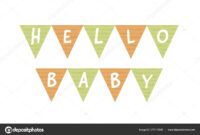 Vector Baby Shower Banner Template. Scandinavian Design with Baby Shower Banner Template