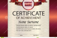 Vector Certificate Of Achievement Template. Award Winner inside Certificate Of Attainment Template
