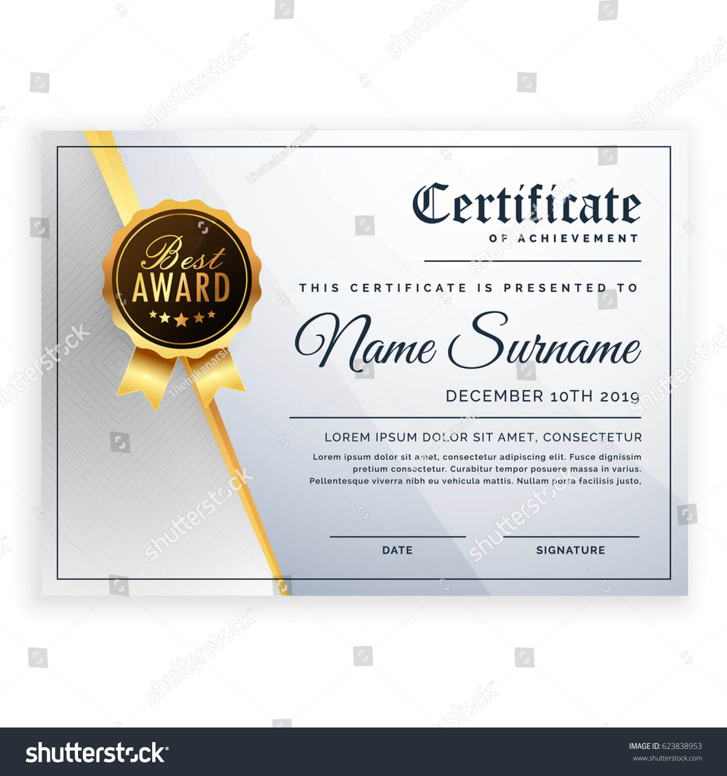 Vector Certificate Template Beautiful Certificate Template In Beautiful Certificate Templates