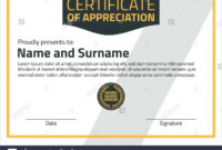 Vector Certificate Template. Illustration Certificate In A4 inside Certificate Template Size