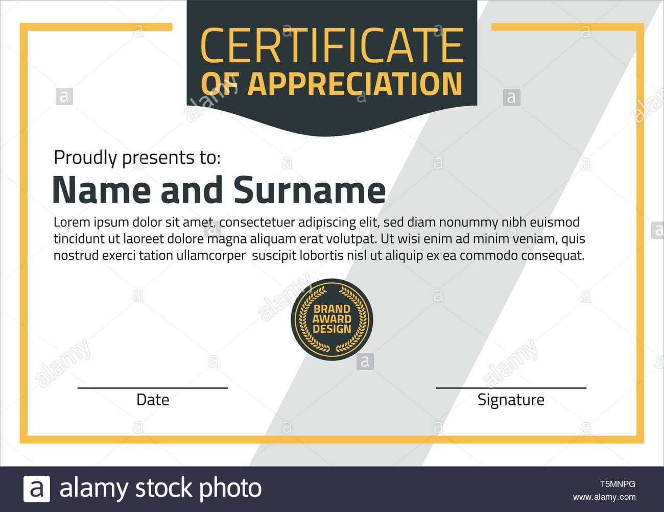 Vector Certificate Template. Illustration Certificate In A4 inside Certificate Template Size