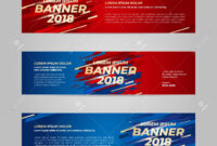 Vector Design Banner Web Template For Sport Event, 2018 Trend pertaining to Event Banner Template