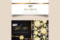 Vector Set Luxury Gift Vouchers Ribbons Gift Box Elegant pertaining to Elegant Gift Certificate Template