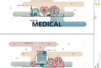 Vector Thin Line Medical Poster Banner Templates Stock With Medical Banner Template