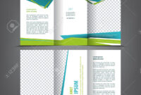 Vector Tri Fold Brochure Template Design, Concept Business Trifold.. throughout 3 Fold Brochure Template Free