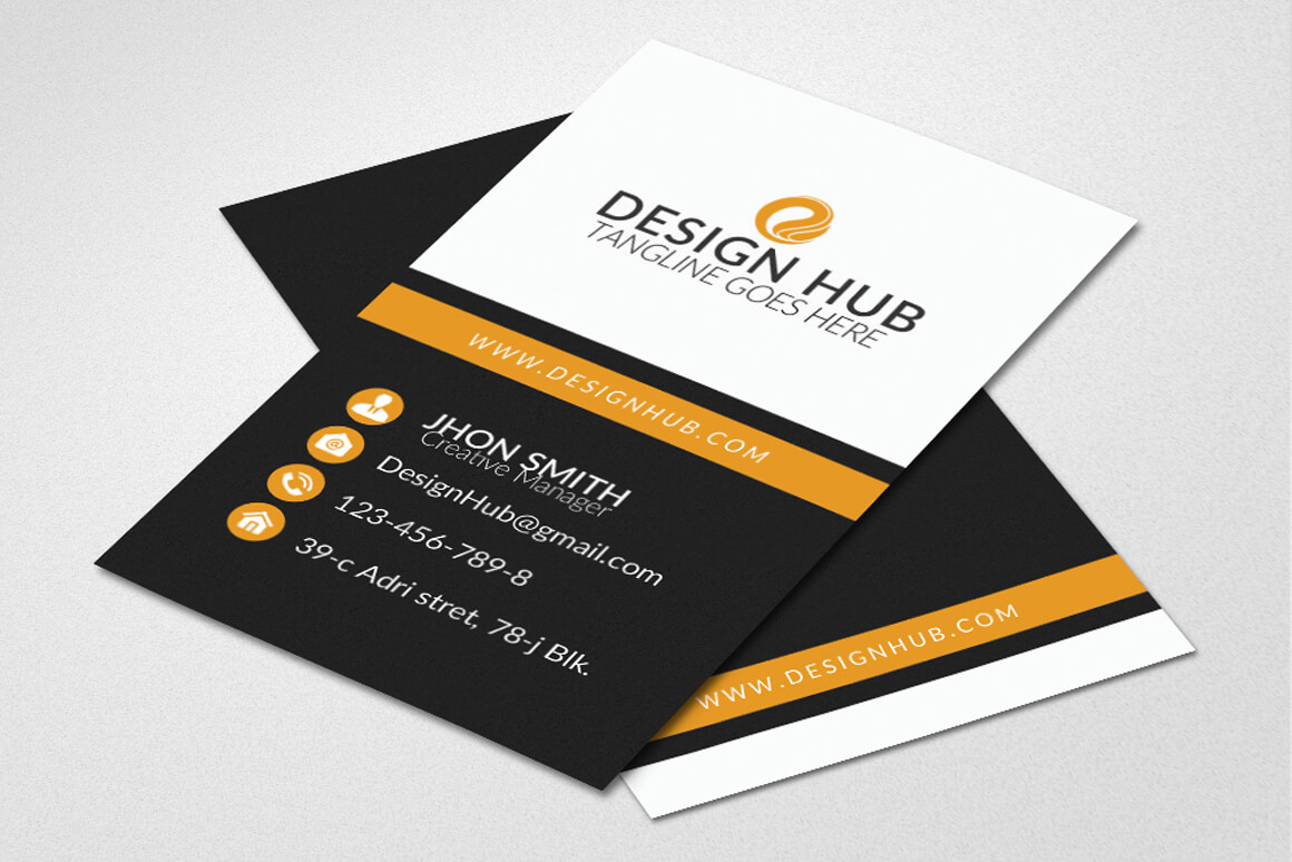 Vertical Business Card Template - Vsual within Buisness Card Template
