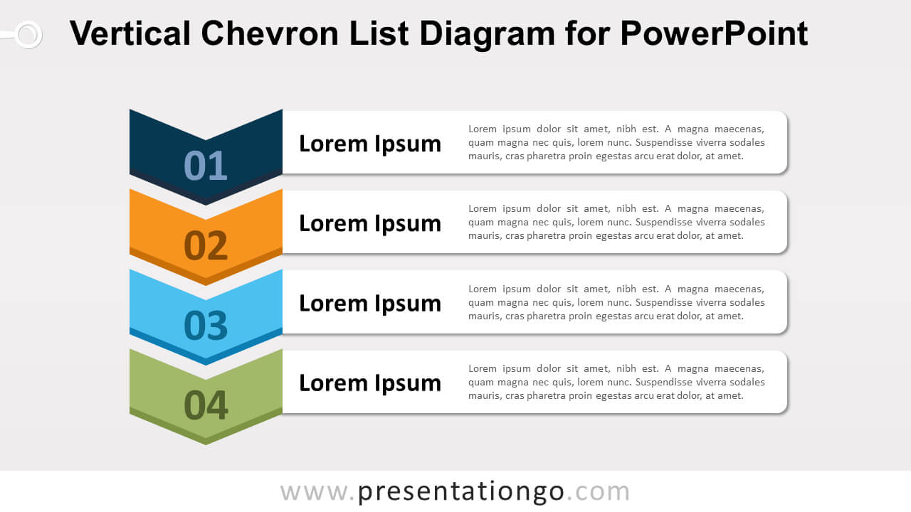 Vertical Chevron List For Powerpoint - Presentationgo pertaining to Powerpoint Chevron Template