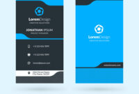 Vertical Double-Sided Business Card Template for Double Sided Business Card Template Illustrator