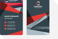Vertical Double-Sided Business Card Template With inside Double Sided Business Card Template Illustrator