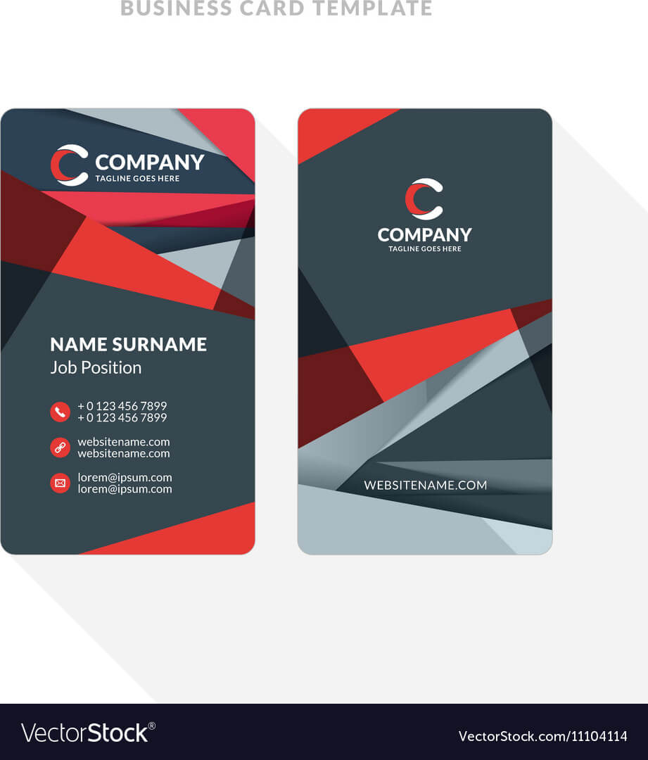Vertical Double Sided Business Card Template With Inside Double Sided Business Card Template Illustrator