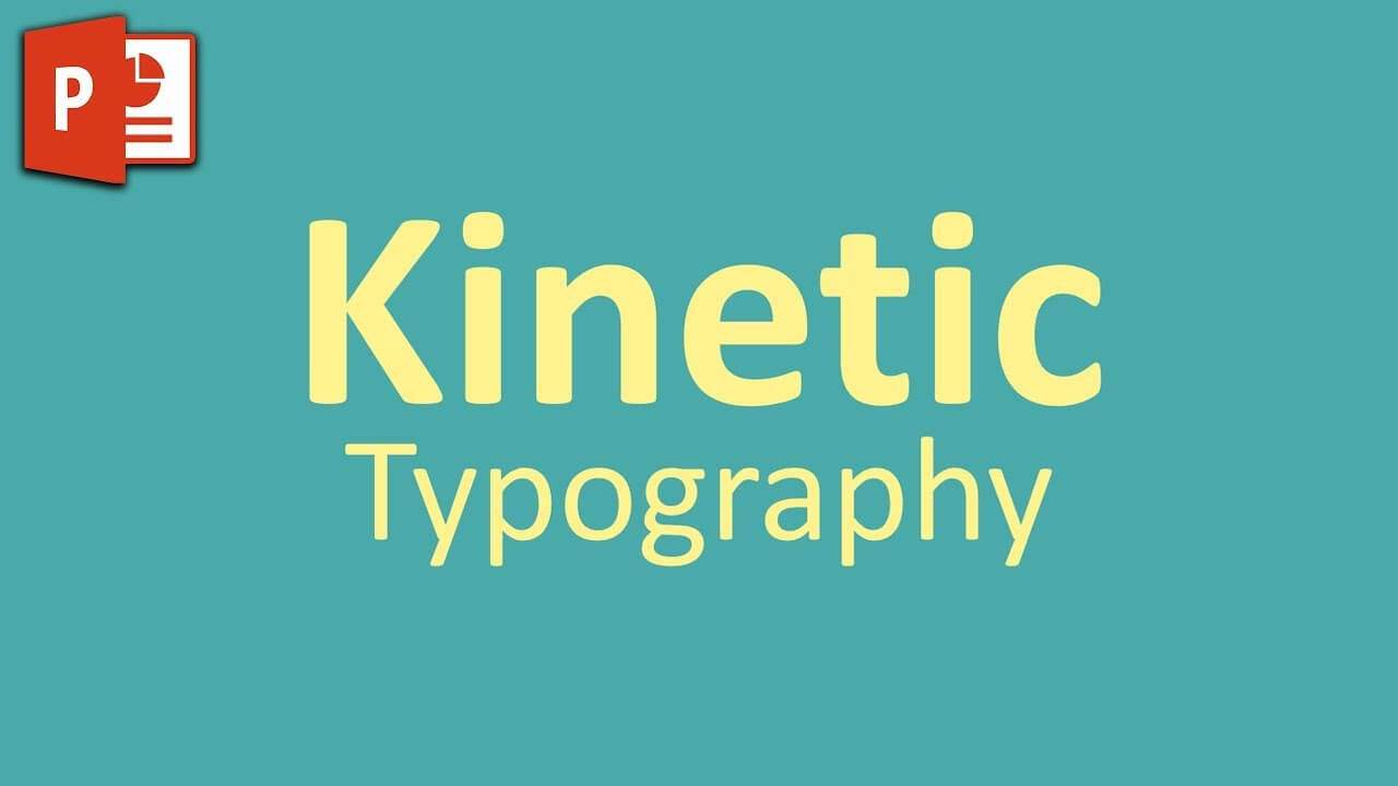 Very Simple Kinetic Typography In Powerpoint ✔ throughout Powerpoint Kinetic Typography Template