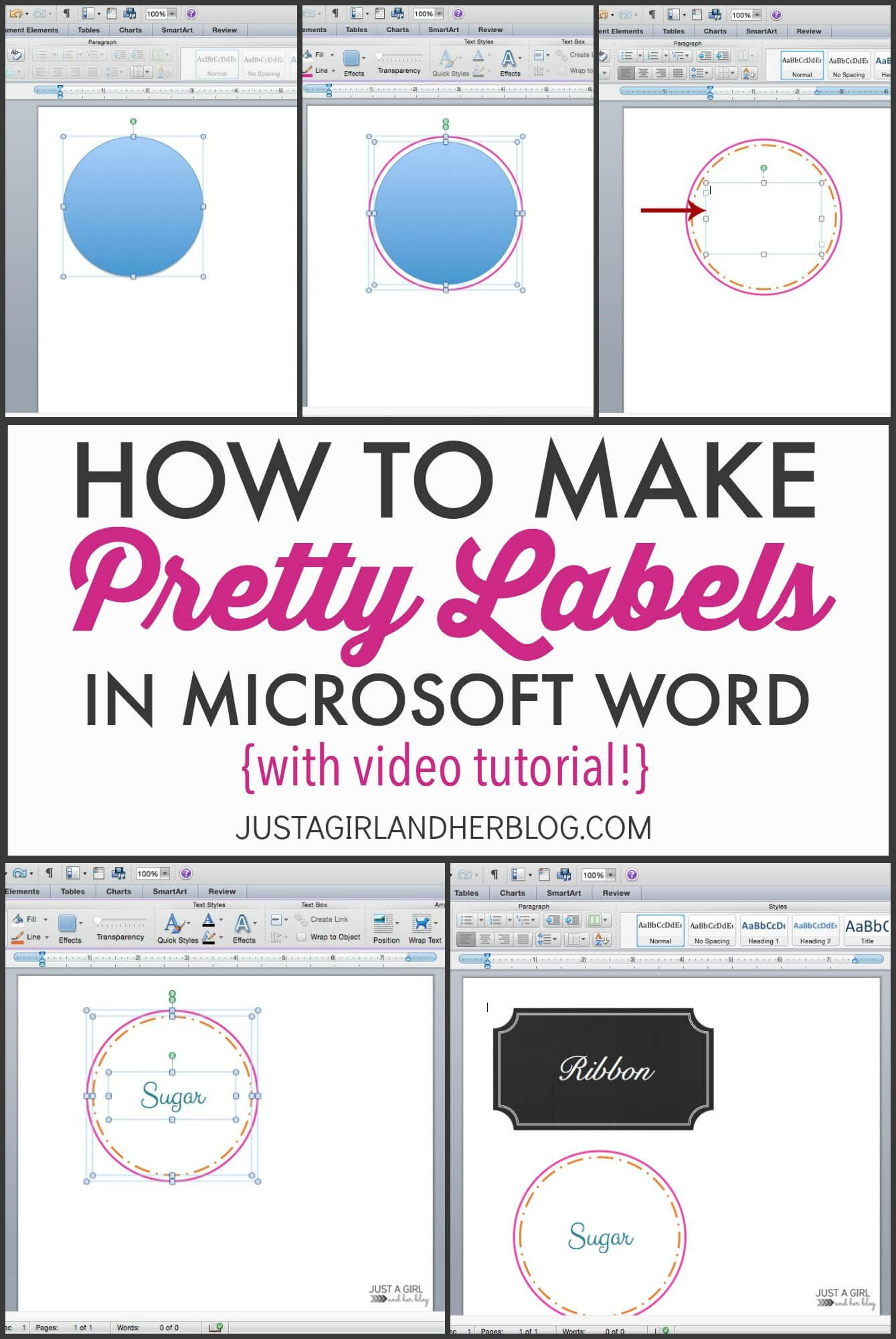Video: How To Make Pretty Labels In Microsoft Word | How To within Food Label Template Word