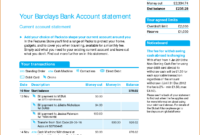 Viewing Gallery For – Bank Account Statement In 2019 throughout Credit Card Statement Template Excel