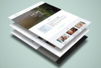 Vineyard Church – One Page Psd Template For Single Page within Single Page Brochure Templates Psd