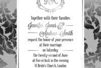 Vintage Baroque Style Wedding Invitation Card Template.. Elegant.. inside Church Wedding Invitation Card Template