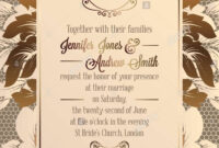 Vintage Baroque Style Wedding Invitation Card Template in Church Invite Cards Template