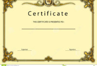 Vintage Certificate Award / Diploma Template Stock With Beautiful Certificate Templates