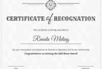 Vintage Certificate Of Recognition Template Template – Venngage With Template For Certificate Of Award