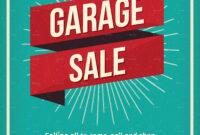 Vintage Garage Sale Flyer throughout Garage Sale Flyer Template Word
