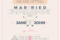 Vintage Wedding Invitation Card Template intended for Church Wedding Invitation Card Template