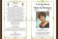 Virgin Mary Memorial Program | Funeral | Memorial Service regarding Memorial Brochure Template