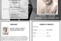 Virgin Mary Memorial Program | Funeral Program Template Free With Regard To Remembrance Cards Template Free