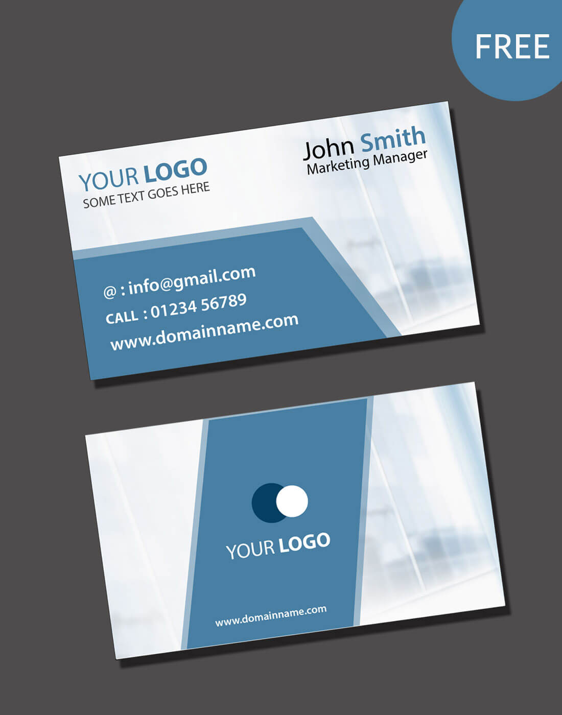Visiting Card Psd Template Free Download Regarding Visiting Card Psd Template Free Download